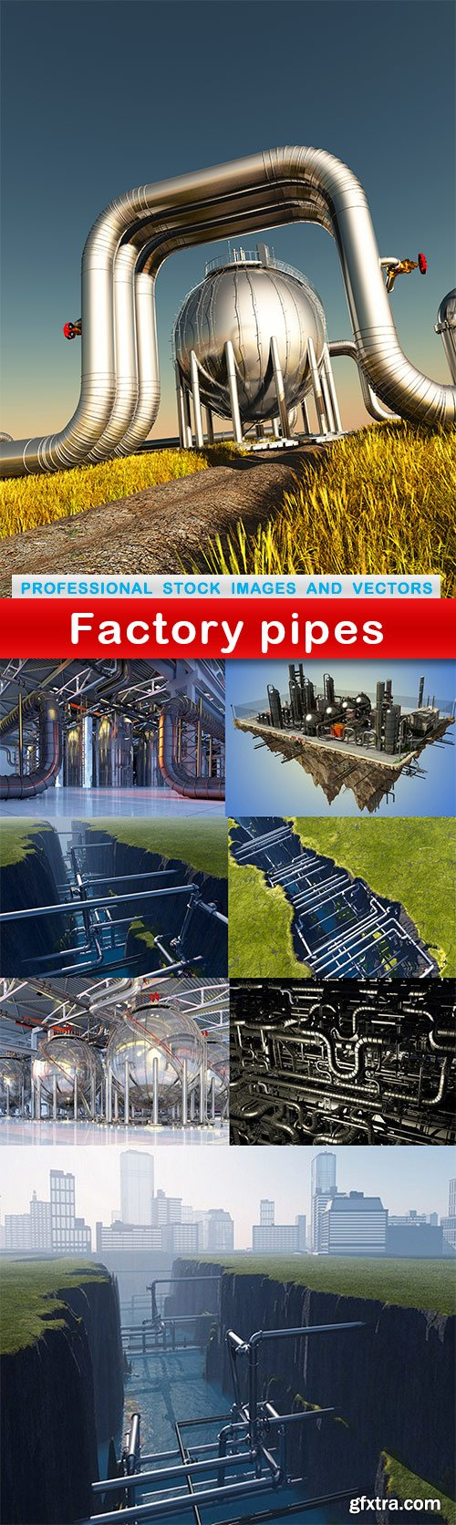 Factory pipes - 8 UHQ JPEG