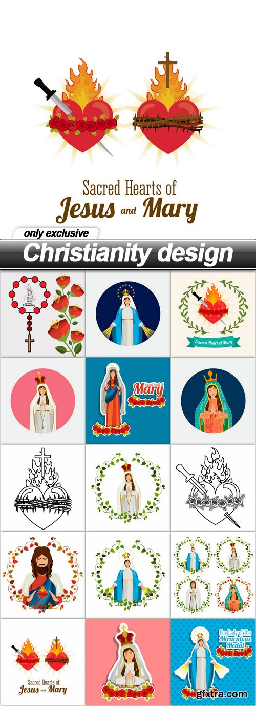 Christianity design - 15 EPS