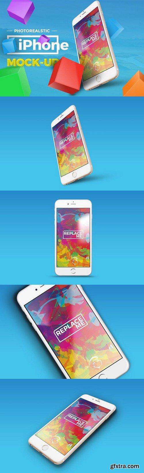 CM - 4 Photorealistic iPhone Mock-up 1080752