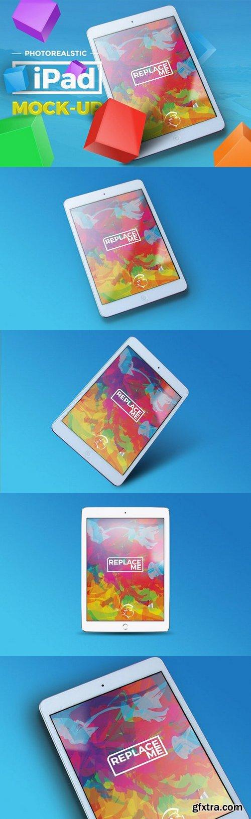 CM - 4 Photorealistic iPad Mock-up 1080984