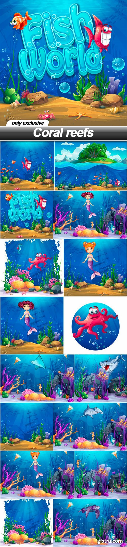 Coral reefs - 16 EPS
