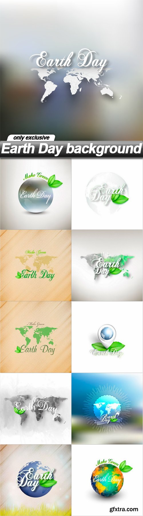Earth Day background - 11 EPS