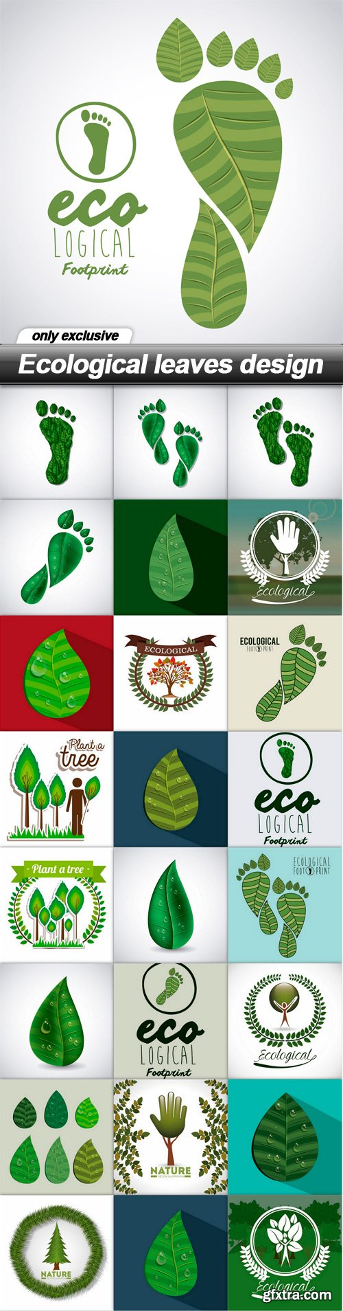 Ecological leaves design - 25 EPS