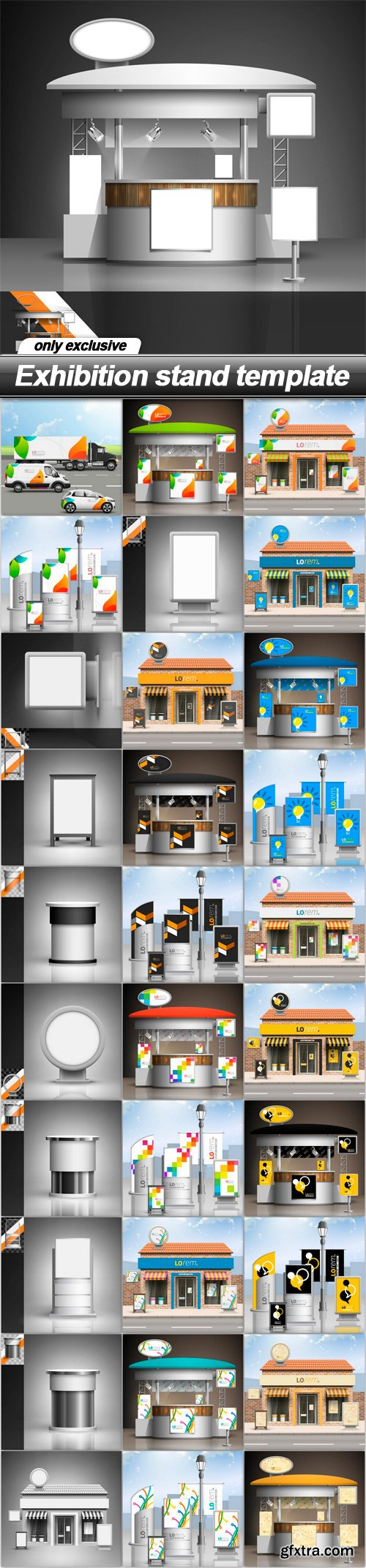 Exhibition stand template - 31 EPS