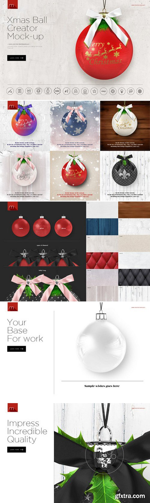 CM - Christmas Ball Card Creator Mock-up 419885