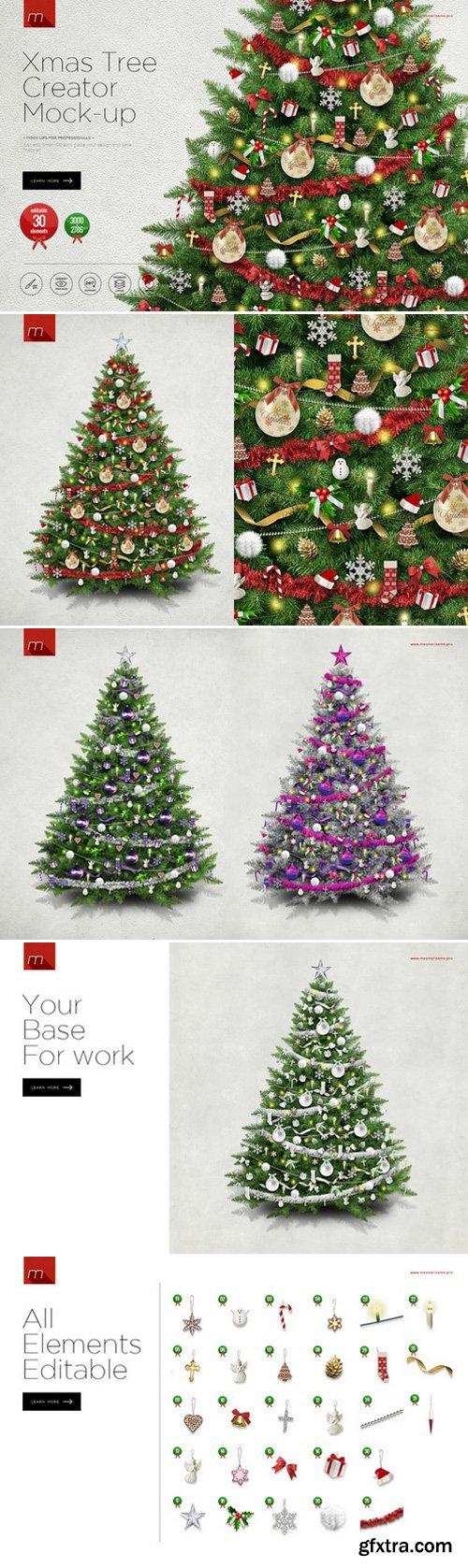 CM - Christmas Tree Creator Mock-up 418080