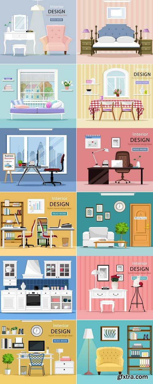 Colorful Graphic Interior Design Room