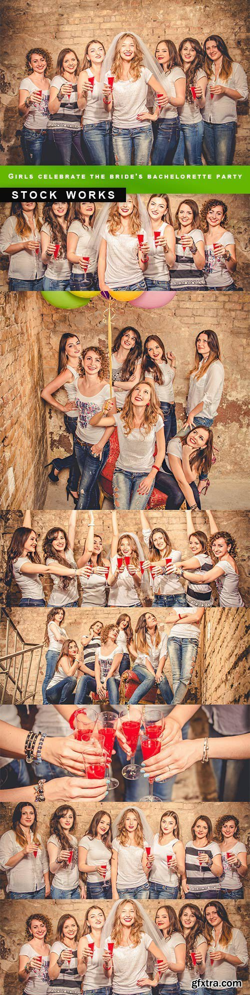 Girls celebrate the bride's bachelorette party