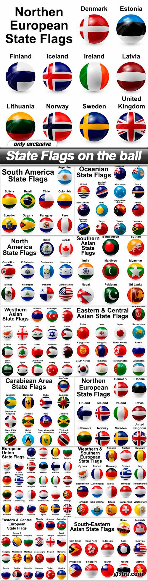 State Flags on the ball - 12 EPS