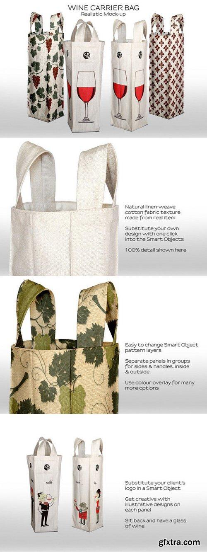 CM - Wine Bottle Fabric Carry Bag 311646