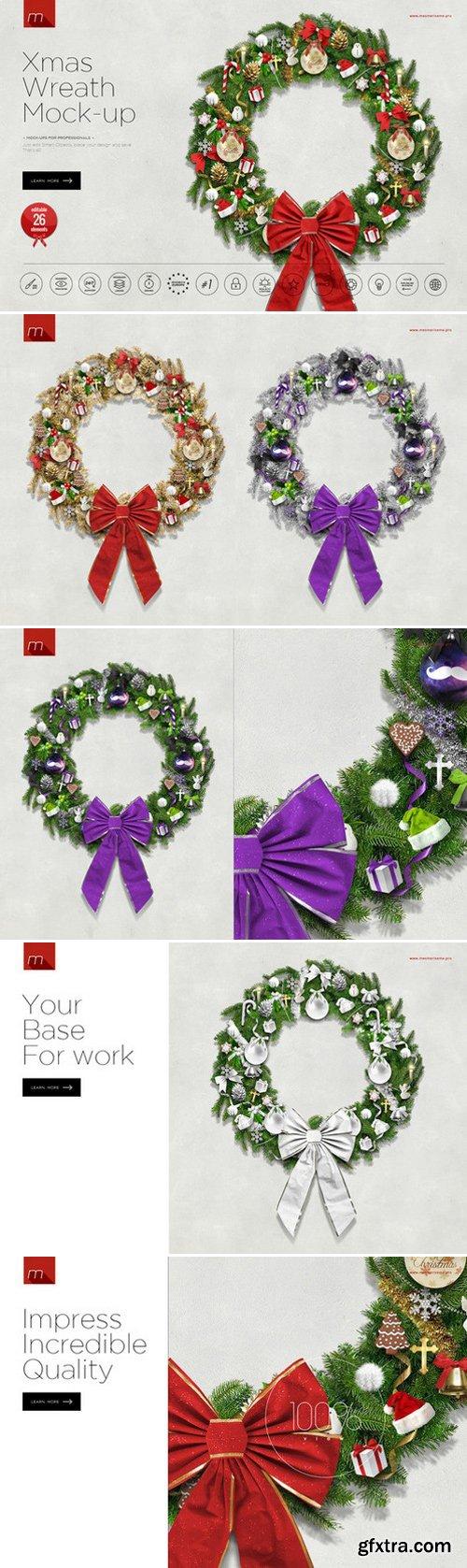 CM - Christmas Wreath Creator Mock-up 433105