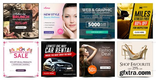 Graphicriver - Instagram Template Banners - 50 Designs 17344948