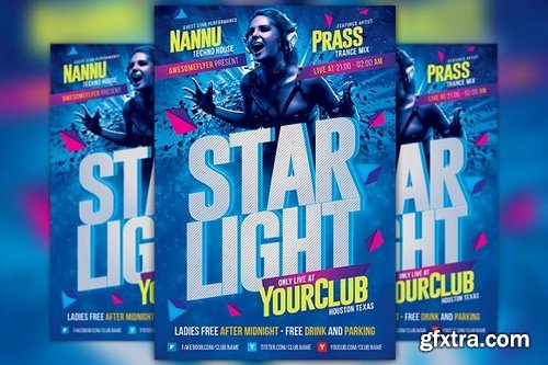 CM - Starlight Party Flyer Template 1099356