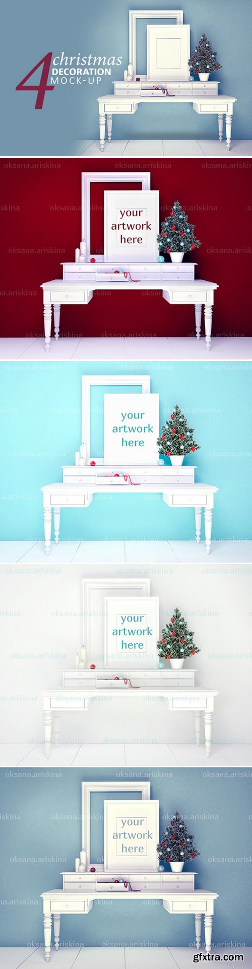 CM - 4 Christmas Decoration Mockup 8x10 443289