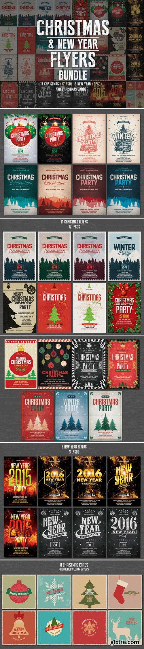 CM - Christmas & New Year Flyers Bundle 453214