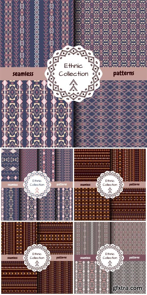 Ethnic vector patterns  collection
