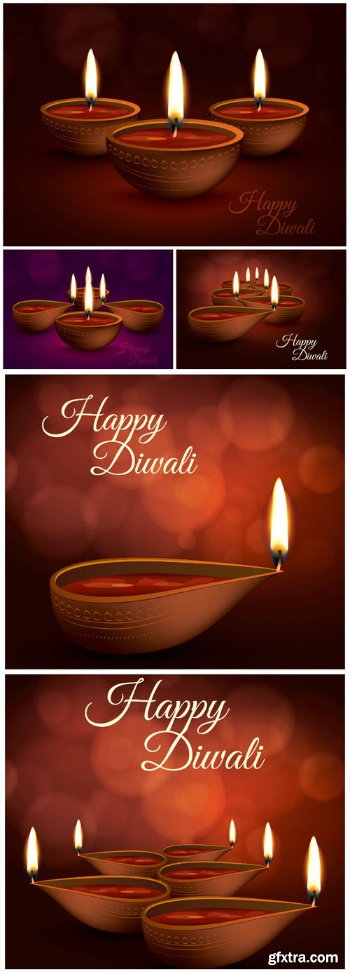 Happy Diwali Holiday vector