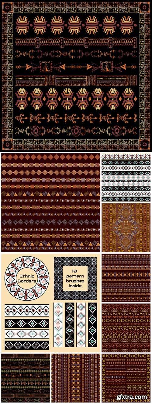 Ethnic vector patterns backgrounds