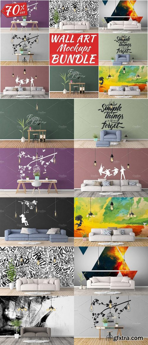 CM - Wall Art Mockups BUNDLE V7 1092695