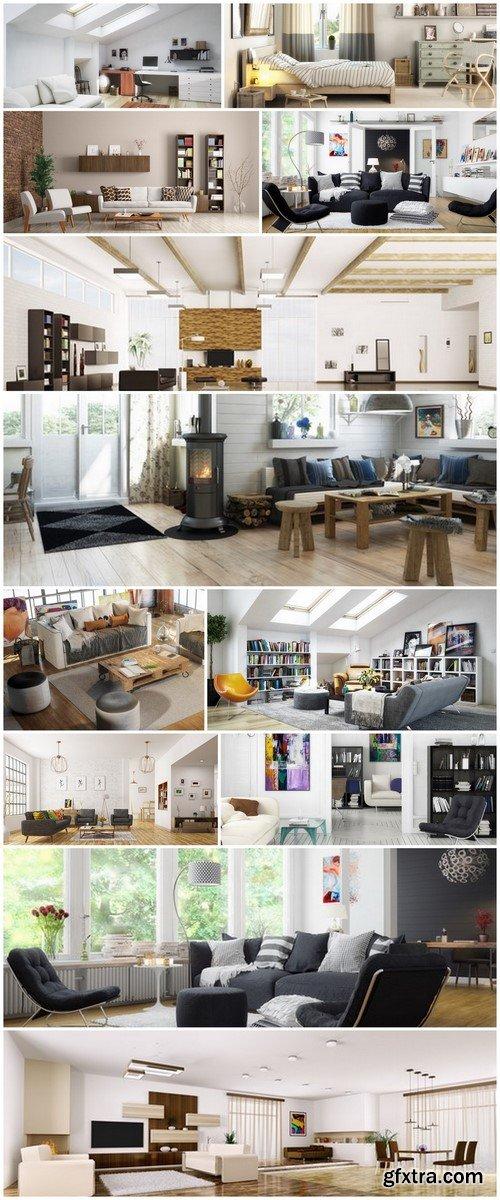 Apartments Design - 12 UHQ JPEG Stock Images