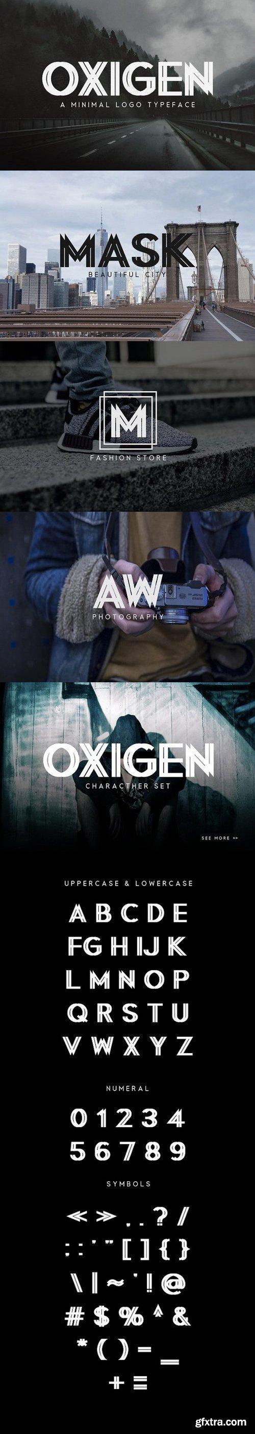 CM - Oxigen | A Minimal Logo Typeface 1095233