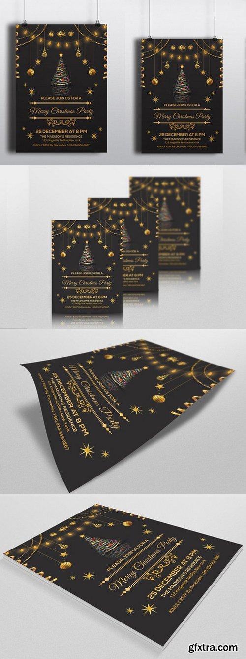 CM - Golden Christmas Invitation -V118 438040