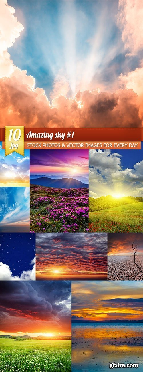 Amazing sky 1, 10 x UHQ JPEG