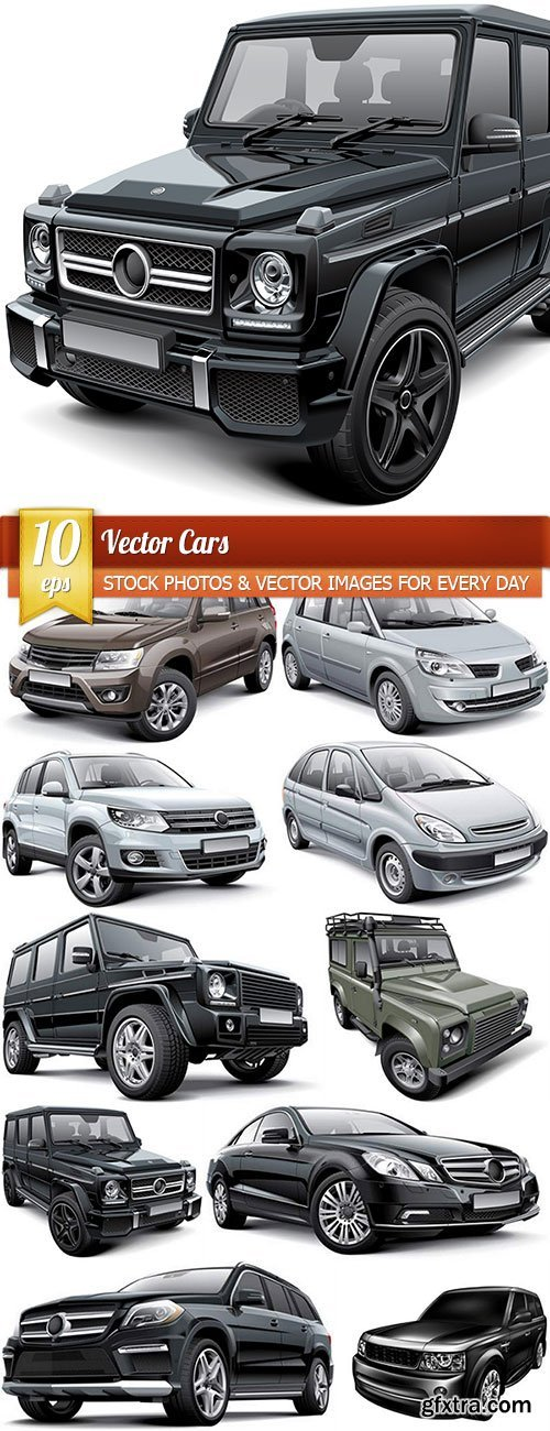 Vector cars, 10 x EPS