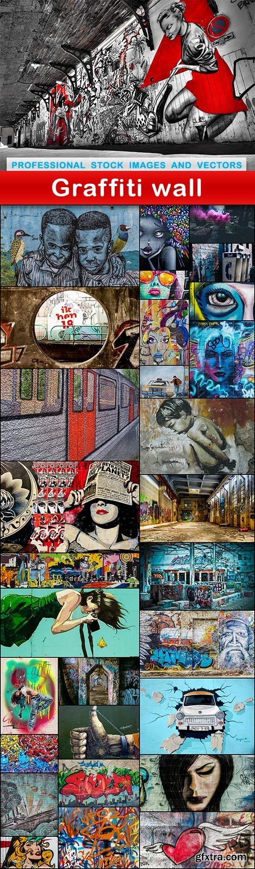 Graffiti wall - 30 UHQ JPEG