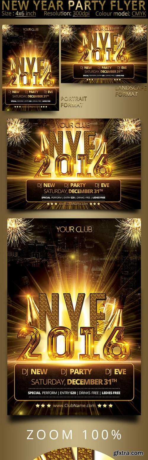 CM - New Year Party Flyer 437133