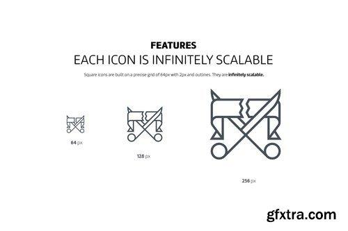 CM - Square line icons 972944 - $58
