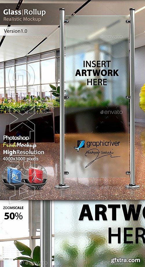 GraphicRiver - Glass Banner Rollup Mockup 13281293 » GFxtra