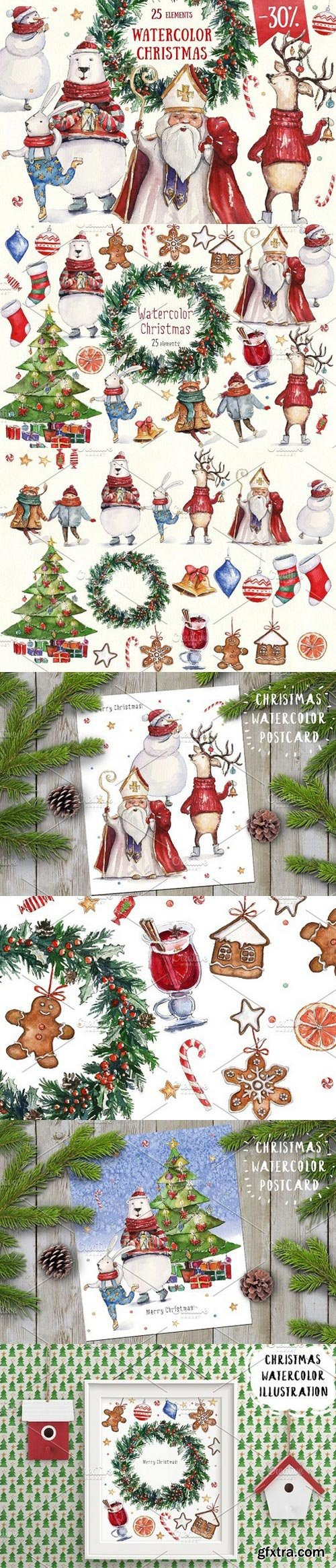 CM - Watercolor Christmas collection 1110723