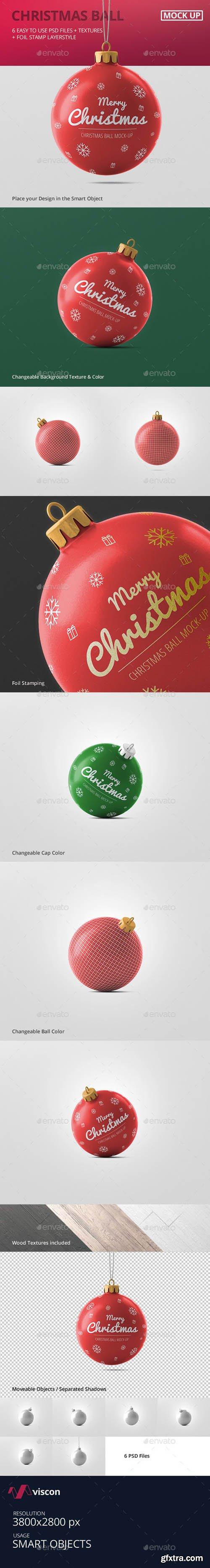 Graphicriver - Christmas Ball Mockup 18739118