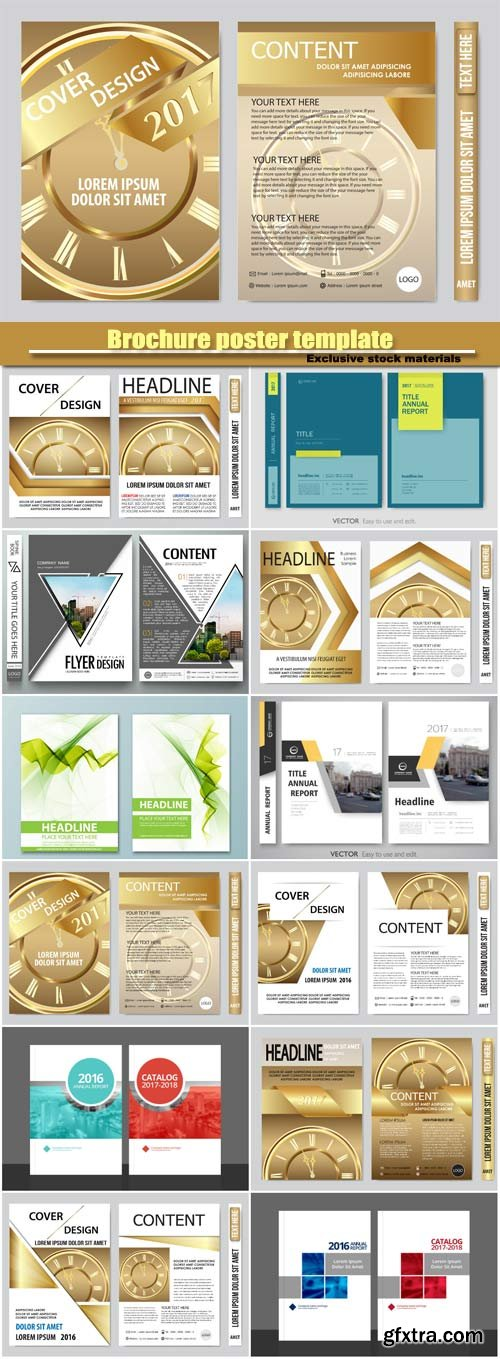 2017 book cover vector business flyers presentation, brochure poster template
