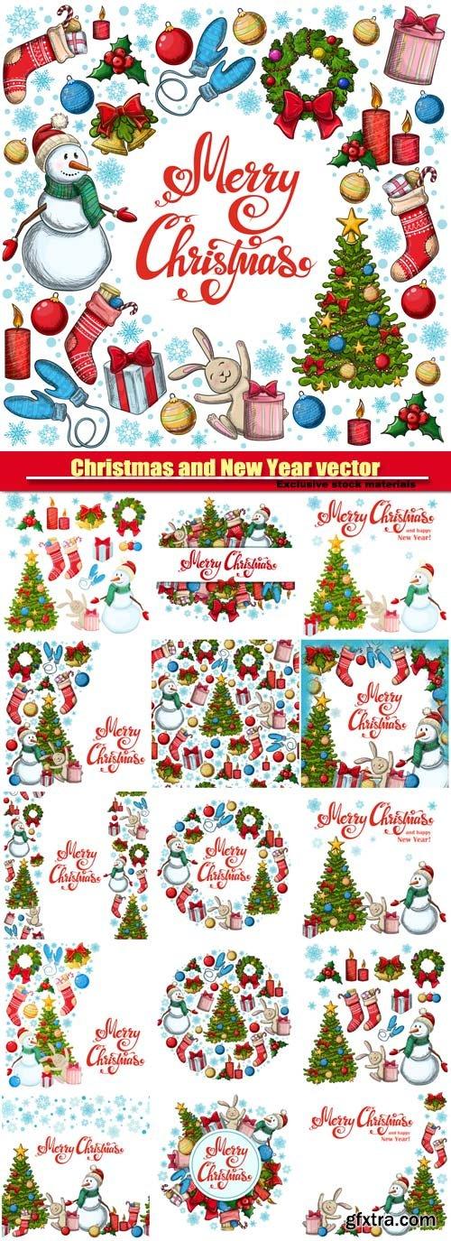 Christmas vector  illustration for decoration, Christmas icons