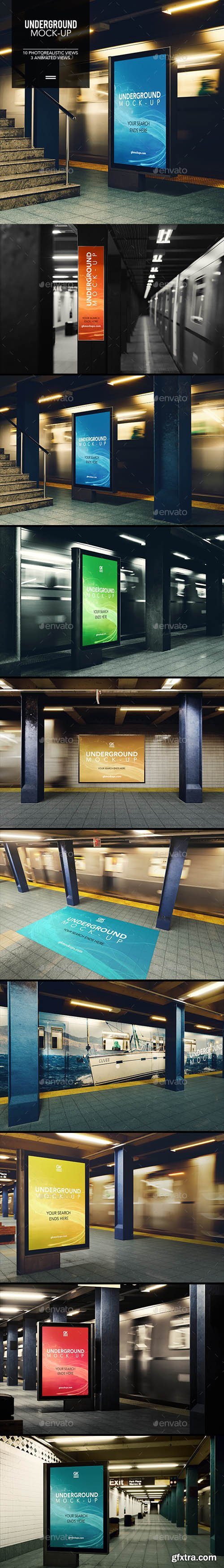 Graphicriver - 3D Underground / Subway Mock-up / Animated Edition 18420854