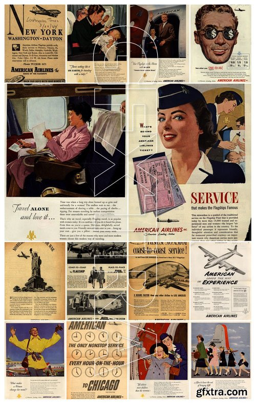 The history of advertising. American Airlines (1943-1954)