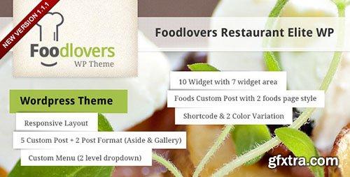 ThemeForest - Foodlovers v1.1.1 - Restaurant Elite WP - 3041369