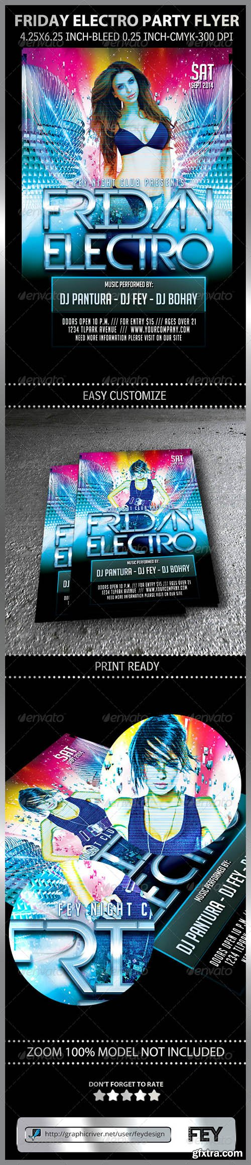 Graphicriver Friday Electro Party Flyer 8598113
