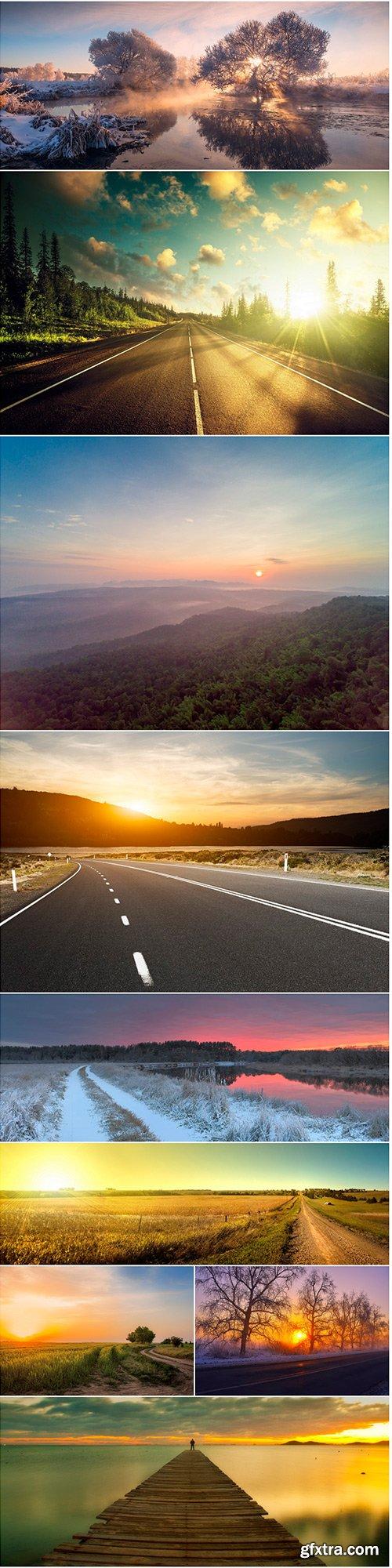 Sunrise & road - 9UHQ JPEG
