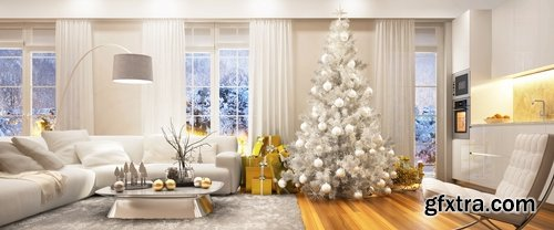 Christmas Christmas tree a collection interior Christmas light garland 25 HQ Jpeg