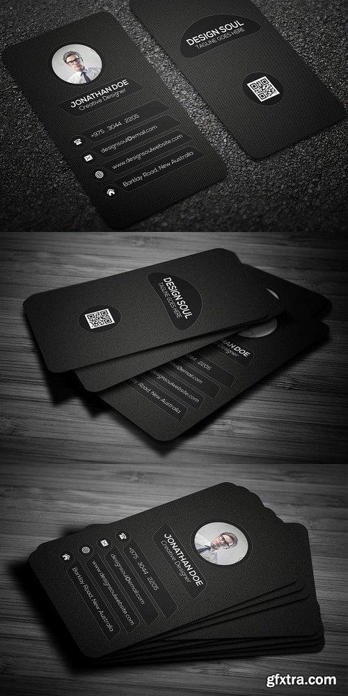 CM 698528 - Dark Business Card