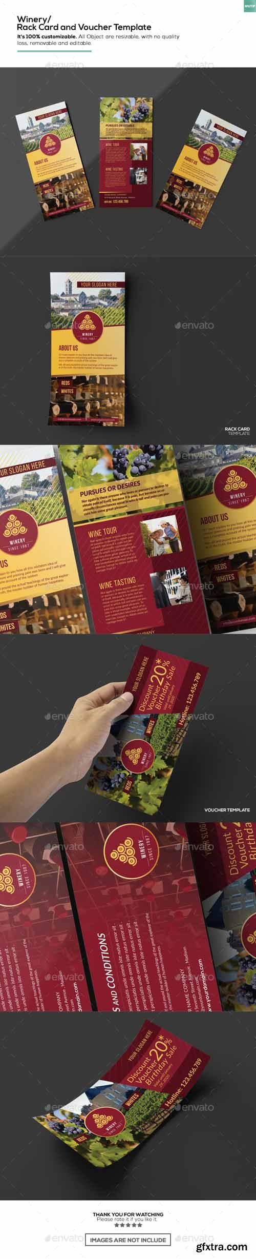 GR - Winery/ Rack Card and Voucher Template 15911229