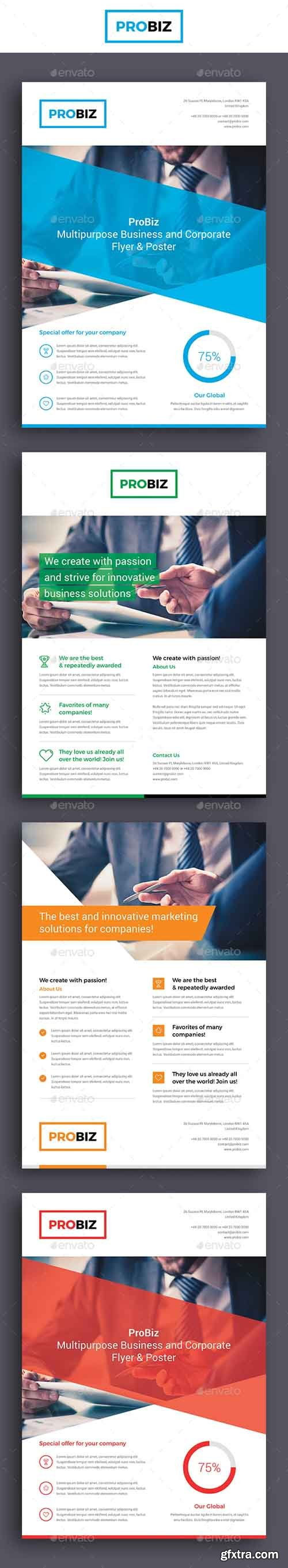 GR - ProBiz – Business and Corporate Flyer 19045696