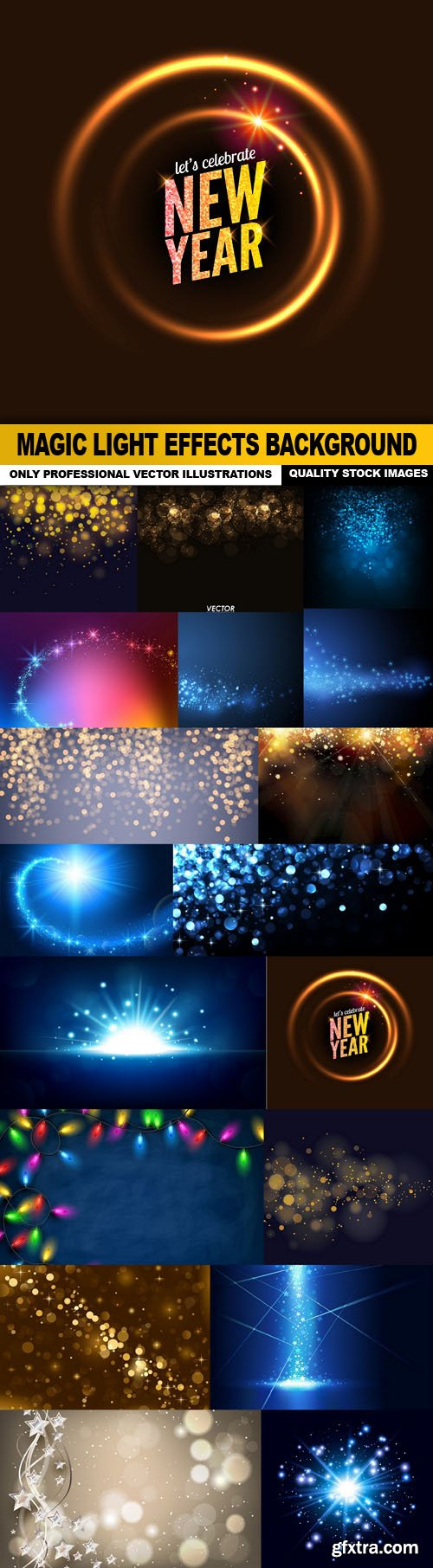Magic Light Effects Background - 18 Vector