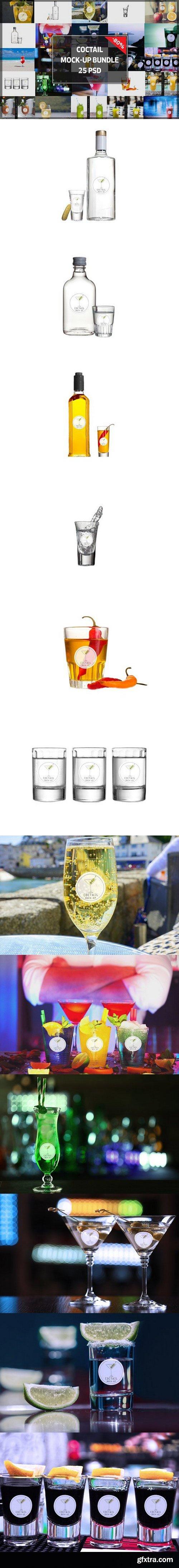 CM - BUNDLE! - 25 Cocktail Mock-up 1099044