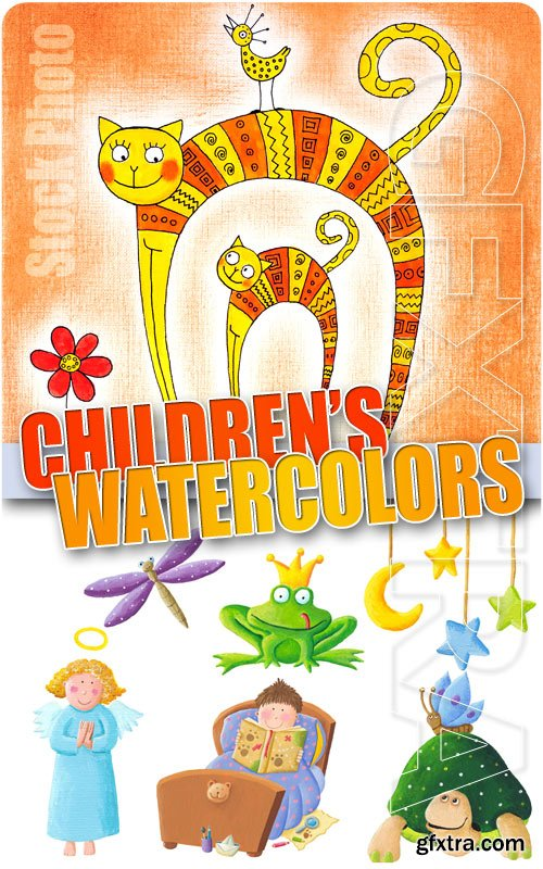 Children's watercolors - UHQ Stock Photo