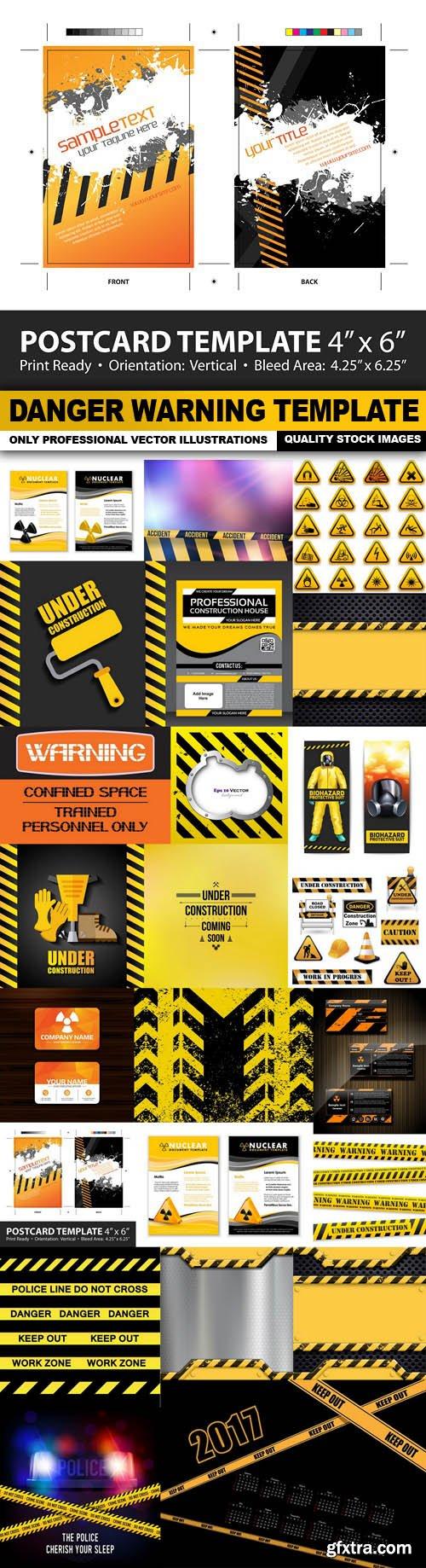 Danger Warning Template - 24 Vector