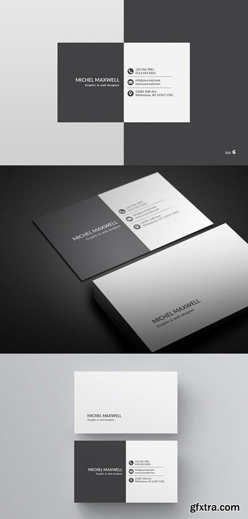 CM - Black & White Business Card 984235